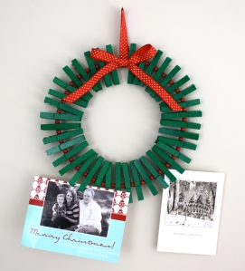 Clothespin Wreath, DIY Christmas Decorations
