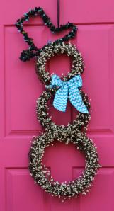Danny Yehia Snowman Wreath