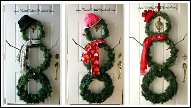 Snowman Wreath, DIY Christmas Decorations